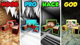 Minecraft NOOB vs. PRO. vs. HACKER vs GOD: SCARY TUNNEL in Minecraft! (Animation)
