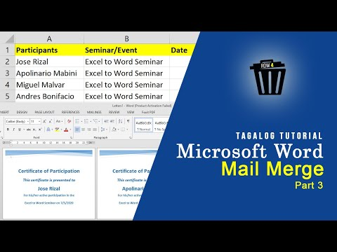 Certificate and Mail Merge Part 3 | Microsoft Word + Microsoft ...