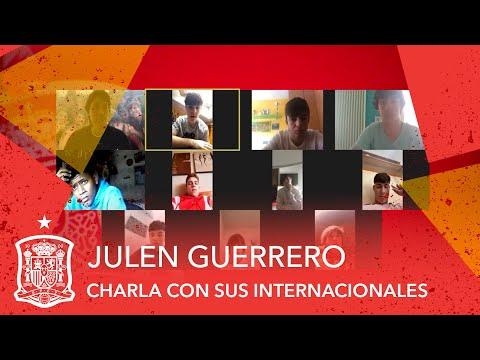Julen Guerrero, seleccionador Sub-15, charla por videoconferencia con sus internacionales