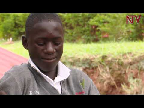 Meet the O-level candidate writing his UNEB exams with his toes