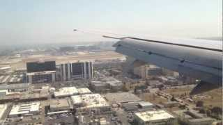 HD United Airlines Boeing 757-200 Parallel landing in LAX Los Angeles International Airport