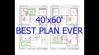 40x60 House Plan   East Facing   2 Story   G+1   Visual Maker