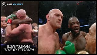 """""""You won!"""" What Wilder, Fury and promoters said to each other after the bell"""