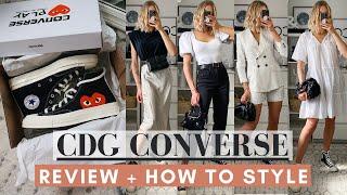 CDG CONVERSE BLACK HIGH TOP REVIEW & HOW TO STYLE + Comme Des Garçons X Converse 70s Lo Comparison