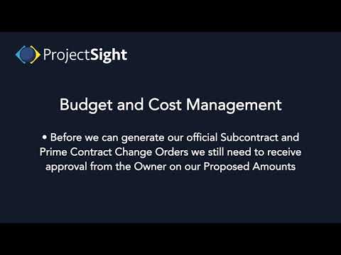 ProjectSight Training - Budget and Cost Management Overview ...