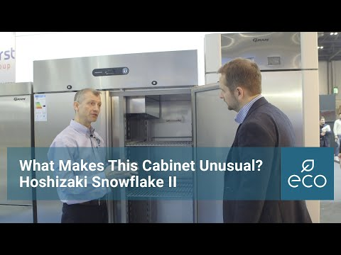 Hoshizaki Snowflake II. What makes this cabinet unusual?
