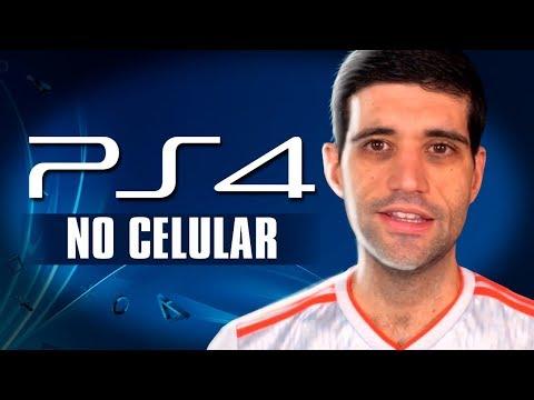 Jogando Playstation 4 no celular e o homem que trabalha demais