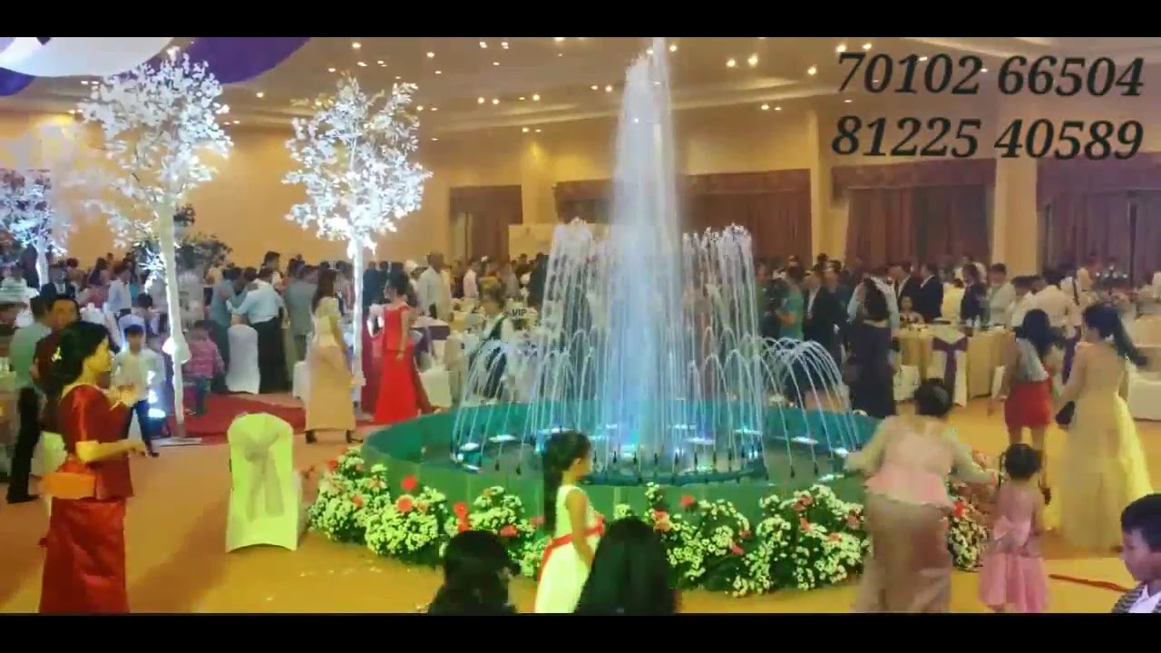 Water Fountain  Wedding Decoration in Center of Hall For all Events India 7010266504 / 8122540589