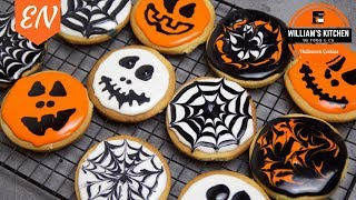 Halloween Decorated Cookies Recipe || Williams Kitchen