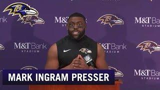 Mark Ingram Full Press Conference vs. Houston Texans | Baltimore Ravens