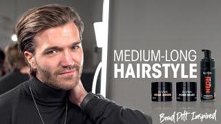 Medium Long Hairstyle For Men 2020 - Brad Pitt Inspired