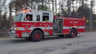 Units Arriving On Scene For A Working Stove Fire   Hudson, NH