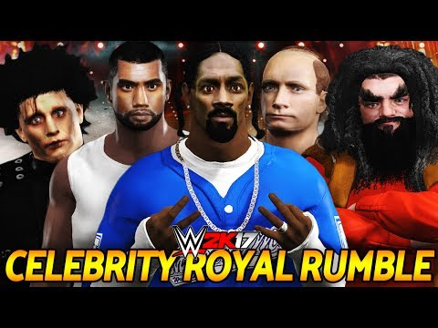 WWE 2K17 - 30 MAN CELEBRITY ROYAL RUMBLE!!