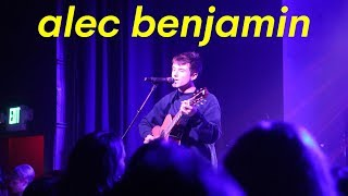 ALEC BENJAMIN Live Performance