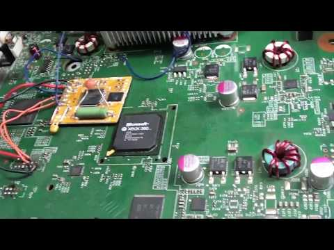 Xbox 360 BGA Southbridge Chip Nudge Test and Removal - смотреть