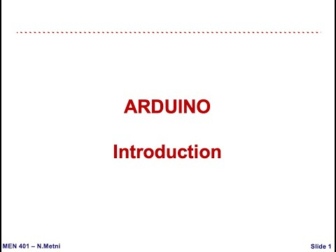 Arduino Introduction - Mechatronics NDU