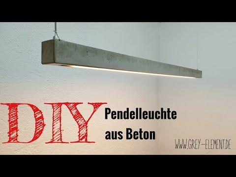 Eine Lampe selber bauen /Lampe aus Beton/ concrete lamp DIY