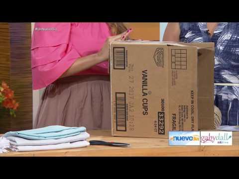 DIY Cestos con cajas de carton