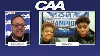 CAA's On The Line | Towson Women's Basketball Diane Richardson & Nukiya Mayo