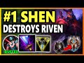 UHH RIOT SINCE WHEN IS SHEN AN ASSASSIN S9 Shen Top vs Riven Unranked to Challenger EP 22