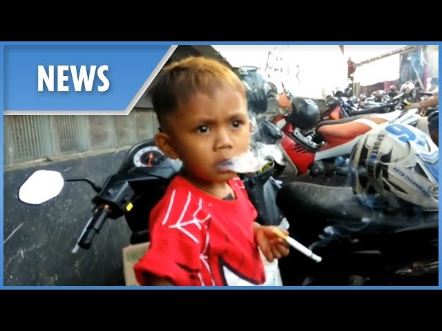 The two-year-old who smokes 40 cigarettes a day