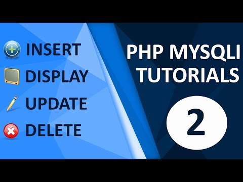 insert update delete view and search data from database in php part 2