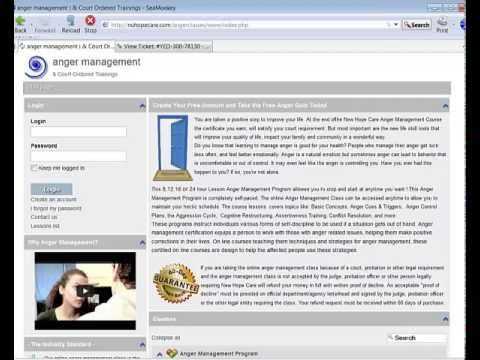 Getting Started - Online Anger Management Classes