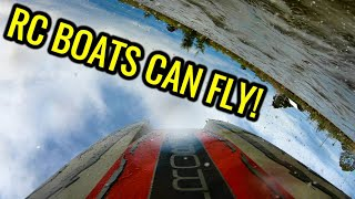 TWO HUGE GAS POWERED PROBOAT ZELOS RC BOATS! Racing Drone Footage, Crashes & More!