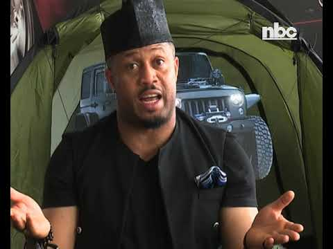 Nigerian Actor Mike Ezuruonye in Namibia on a pre-production tour -NBC