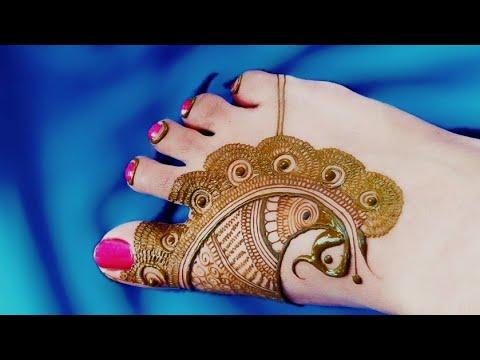 latest feet mehndi design by aaru mehndi