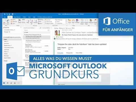 Microsoft Outlook (Grundkurs) Für Anfänger   Microsoft Office Tutorial Serie