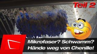 Das richtige Waschwerkzeug kaufen Wollhandschuh vs. Mikrofaserhandschuh vs. Schwamm XXL Guide Teil 2