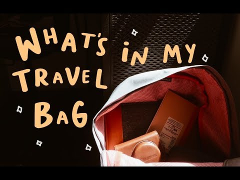 what's in my travel bag!🎒(2018)
