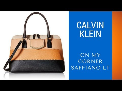 Calvin Klein On My Corner Saffiano LT Review – Best Compartment Leather Satchel
