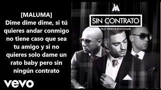 Maluma - Sin Contrato (Remix-letra) ft. Don Omar, Wisin
