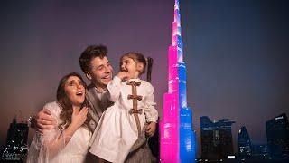 اكبر حفلة معرفة جنس مولود في العالم (برج خليفة) || BIGGEST GENDER REVEAL EVER