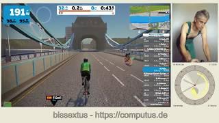 Zwift Fox Hill auf einem Daum ergo_bike premium 8i