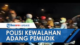 Viral Video Polisi Kewalahan Tangani Pemudik yang Kendarai Motor, Begini Kata Kapolres Karawang