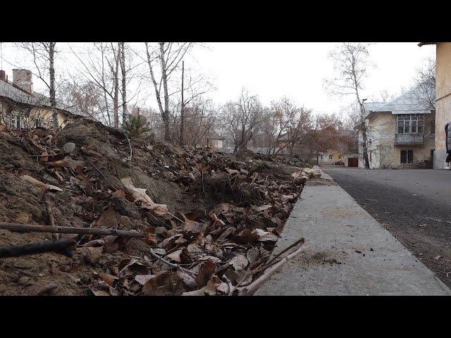 Благоустройство двора в Ангарске бросили на полпути