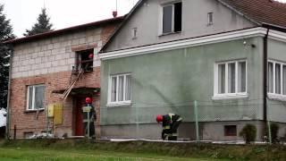Pożar domu na ul. Żeromskiego w Krośnie