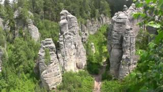 CZECH REPUBLIC Prachov Rocks (Bohemian Paradise) (hd-video)