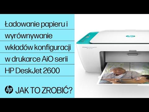 Ładowanie papieru i wyrównywanie wkładów atramentowych konfiguracji w drukarce All-in-One serii HP DeskJet 2600