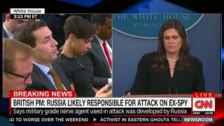 Sanders refuses to blame Russia for UK poisoning