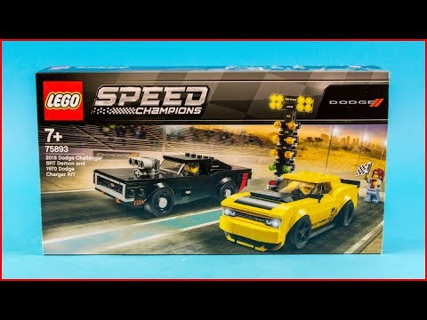 Vidéo LEGO Speed Champions 75893 : Dodge Challenger SRT Demon 2018 et Dodge Charger R/T 1970