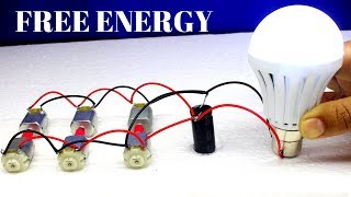Free Energy Running Motor at Home - Using 6 DC Motor - Free Energy Generator Running Motor
