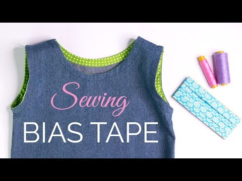 How to Sew Bias Tape {around curves & necklines}