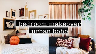 Extreme BOHO Bedroom Makeover / Transformation + Room Tour (Simple + Aesthetic Boho Room Decor)