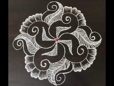 13 * 1 dotted rangoli designs by nammane