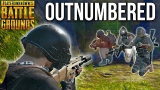OUTNUMBERED + SURROUNDED 🔫PlayerUnknown's Battlegrounds Duo Clutch PUBG