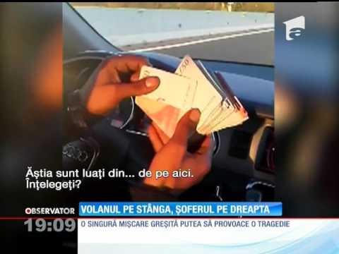 Un şofer s-a filmat în timp ce conducea cu peste 100km/h, după ce s-a mutat pe scaunul din dreapt